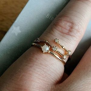 Accessorize NWT Gold Plated Rings June Birthtone